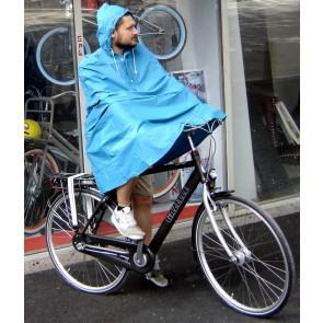 Pelerina ploaie simpla tip poncho pentru bicicleta Albastru