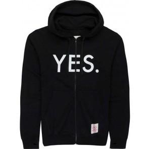 Hanorac Yes ZIP cu fermoar negru M