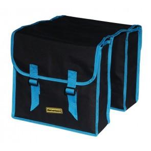 Geanta dubla portbagaj Negru Albastru 34L
