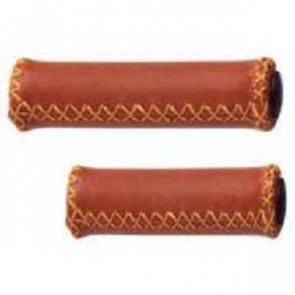 Mansoane piele 128/92 mm. maro (pereche lung/scurt)