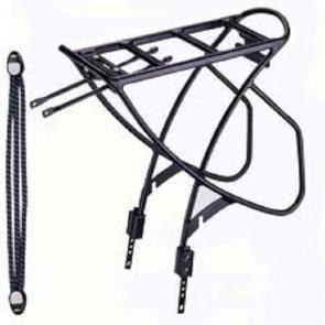 Portbagaj reglabil 24-28 alu negru+elastice