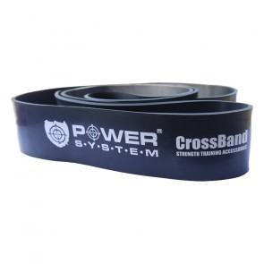 Banda elastica cauciuc Power System PS-4055 nivel 5 Negru 208x6.5x0.5 cm