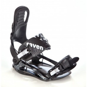 Legaturi snowboard Raven S220 Negru