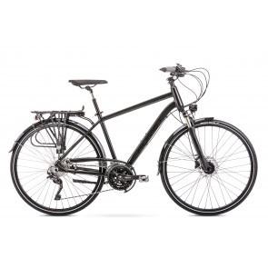 Bicicleta de trekking/oras pentru barbati Romet Wagant 10 Negru 2020