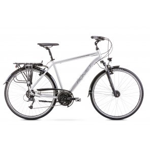 Bicicleta de trekking/oras pentru barbati Romet Wagant 7 Argintiu/Negru 2020
