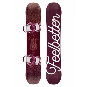 Set placa snowboard cu legaturi pentru femei Bataleon FeelBetter 2018