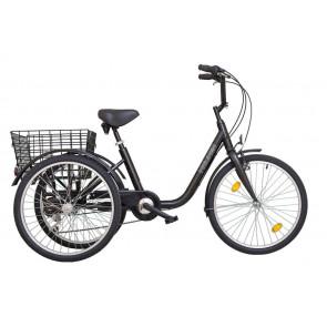 Tricicleta adulti Koliken Gommer 24 6 viteze Negru