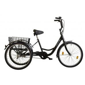 Tricicleta adulti Koliken Gommer 24 Negru