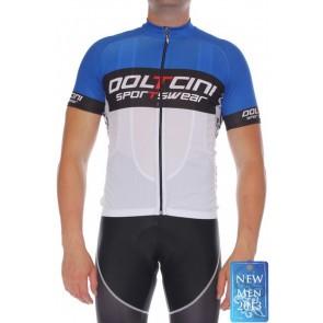 Doltcini Tricou Ciclism Bărbați Retro Blue