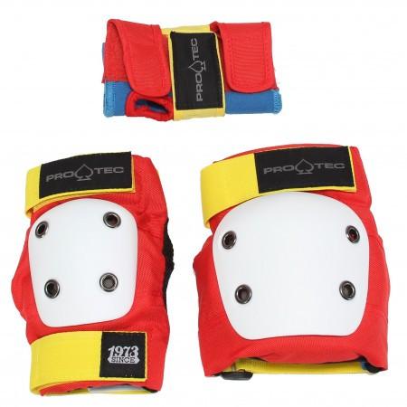 Set protectii copii x3 Pro-tec Streer Gear JR 3 Rosu Retro