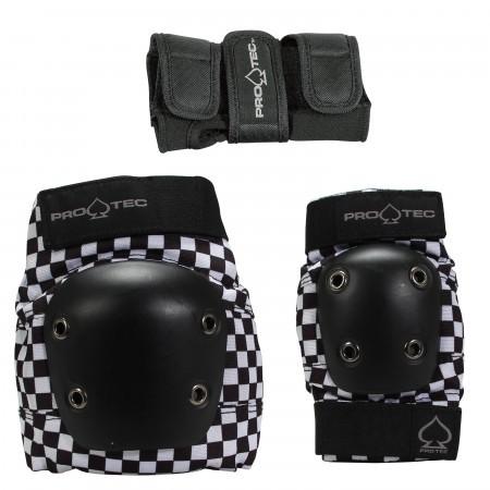 Set protectii copii x3 Pro-tec Street Gear JR 3 Checker