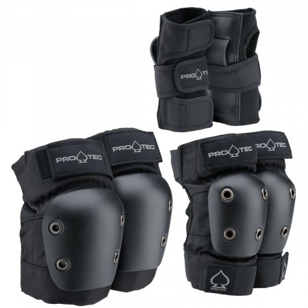 Set protectii copii x3 Pro-tec Street Gear JR 3 Negru